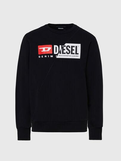 Diesel - S-GIRK-CUTY, Nero - Felpe - Image 1