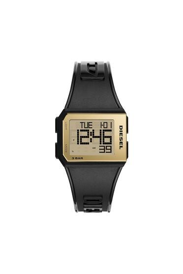 Orologio digitale Chopped nero e oro in silicone