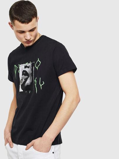 Diesel - T-DIEGO-S12, Nero - T-Shirts - Image 1