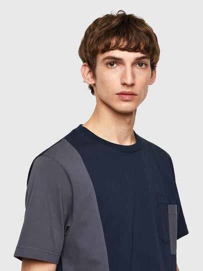 Diesel - T-RISEN-B1, Blu Scuro - T-Shirts - Image 3