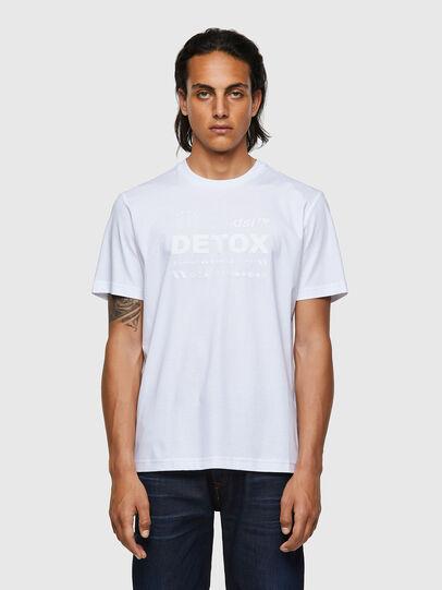 Diesel - T-JUST-B63, Bianco - T-Shirts - Image 1