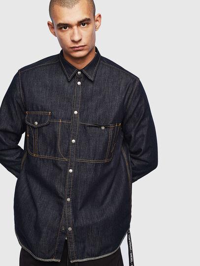 Diesel - D-MILLY, Blu Scuro - Camicie in Denim - Image 1