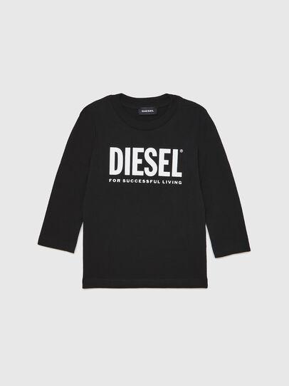 Diesel - TJUSTLOGOB ML-R, Nero - T-shirts e Tops - Image 1