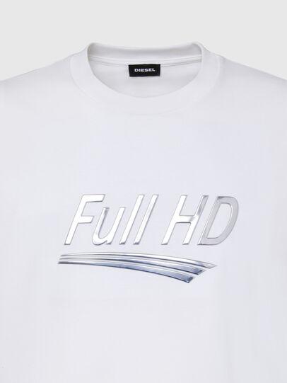 Diesel - T-JUST-SLITS-X83, Bianco - T-Shirts - Image 3