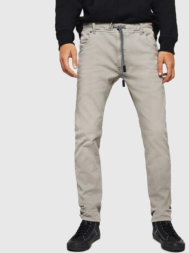 Diesel - Krooley JoggJeans 0670M, Grigio Chiaro - Jeans - Image 1