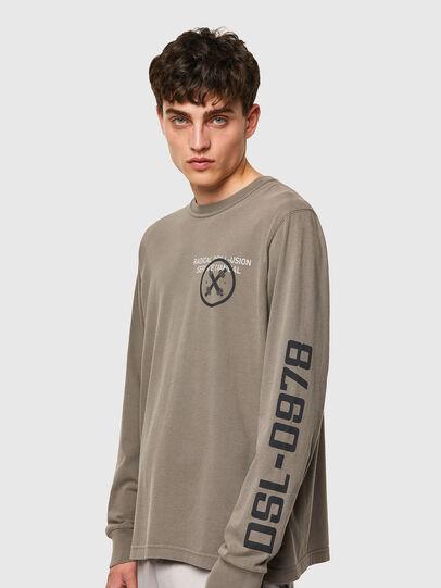 Diesel - T-JUBINDY-LS, Verde Oliva - T-Shirts - Image 3