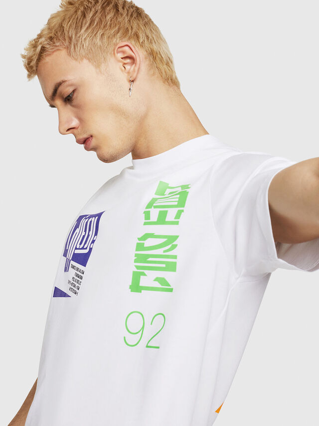 Diesel - T-JUST-Y20, Bianco - T-Shirts - Image 3