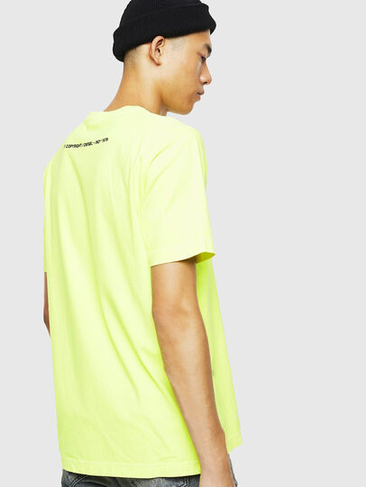 Diesel - T-JUST-SLITS-FLUO, Giallo Fluo - T-Shirts - Image 3