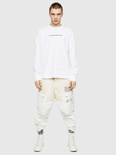 Diesel - T-JUST-LS-COPY, Bianco - T-Shirts - Image 5