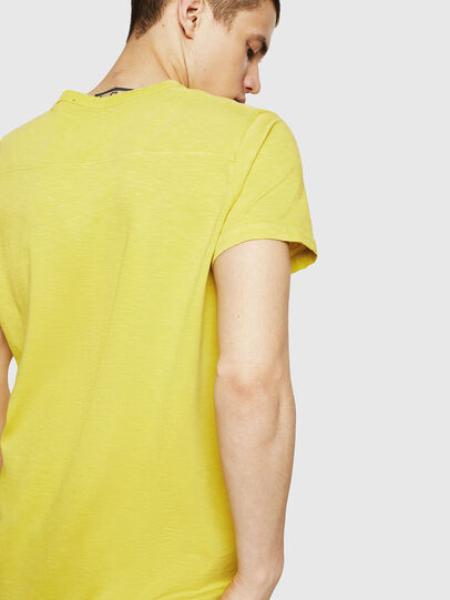 Diesel - T-DIEGO-CUT-A, Giallo - T-Shirts - Image 2