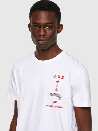 Diesel - T-DIEGOS-B4, Bianco - T-Shirts - Image 3