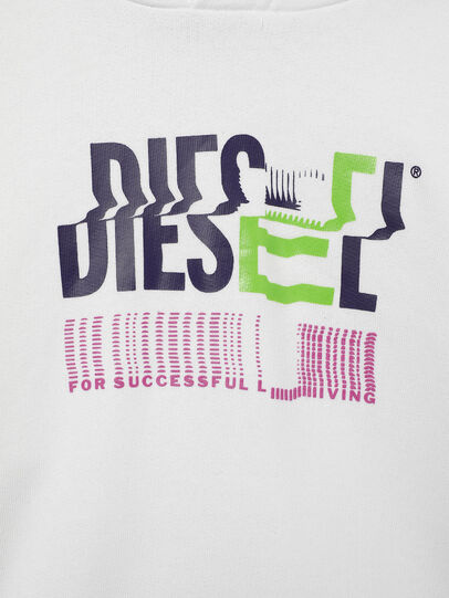 Diesel - SANGHOODKLIV, Bianco - Felpe - Image 3