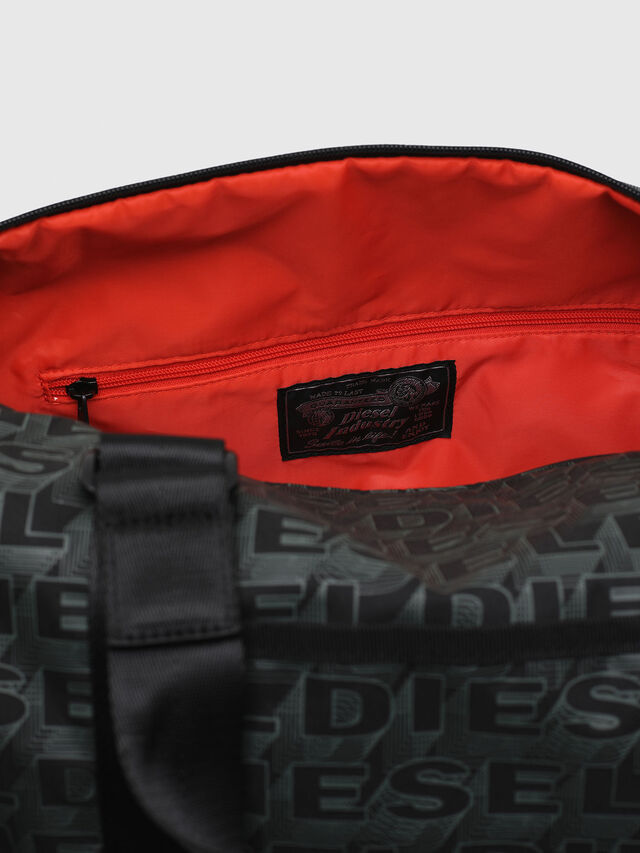 Diesel - F-DISCOVER DUFFLE, Nero/Verde - Borse da viaggio - Image 4