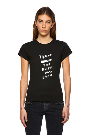 T-shirt con stampa Love for Ever