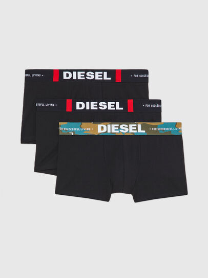 Diesel - UMBX-DAMIENTHREEPACK, Nero - Boxer stretch - Image 1