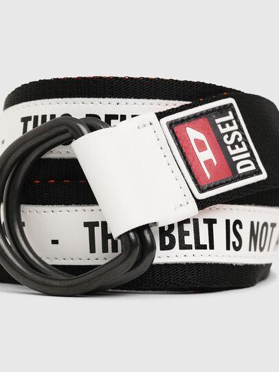 Diesel - B-RETA, Nero/Bianco - Cinture - Image 2