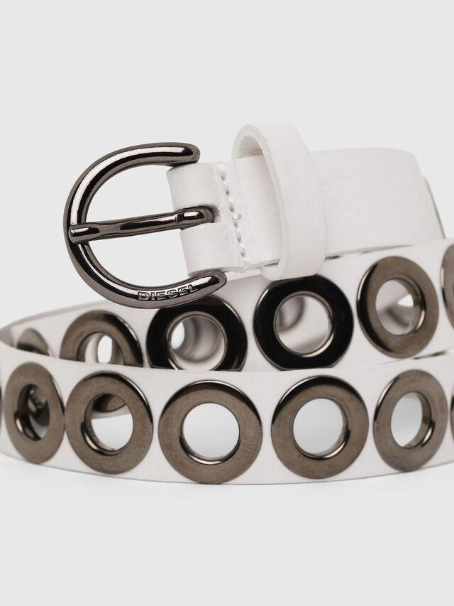 Diesel - B-SPARK, Bianco - Cinture - Image 2