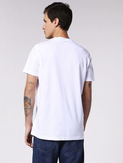 Diesel - T-DANIEL, Bianco - T-Shirts - Image 2