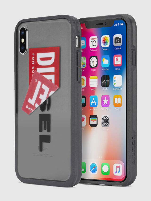 Diesel - STICKER IPHONE X CASE, Nero - Cover - Image 1