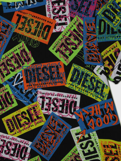 Diesel - TAIRB-R, Verde/Nero - T-shirts e Tops - Image 4