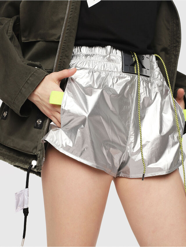 Diesel - S-DEMIBY, Argento - Shorts - Image 3