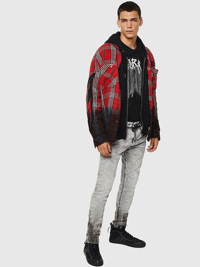 Diesel - Krooley JoggJeans 0091H, Grigio Chiaro - Jeans - Image 7
