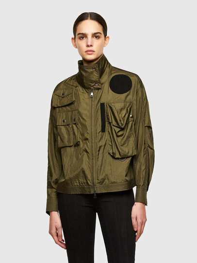 Diesel - C-CORAL, Verde Militare - Camicie - Image 1