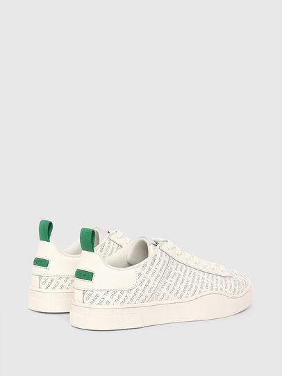 Diesel - S-CLEVER LOW LACE, Bianco/Verde - Sneakers - Image 3