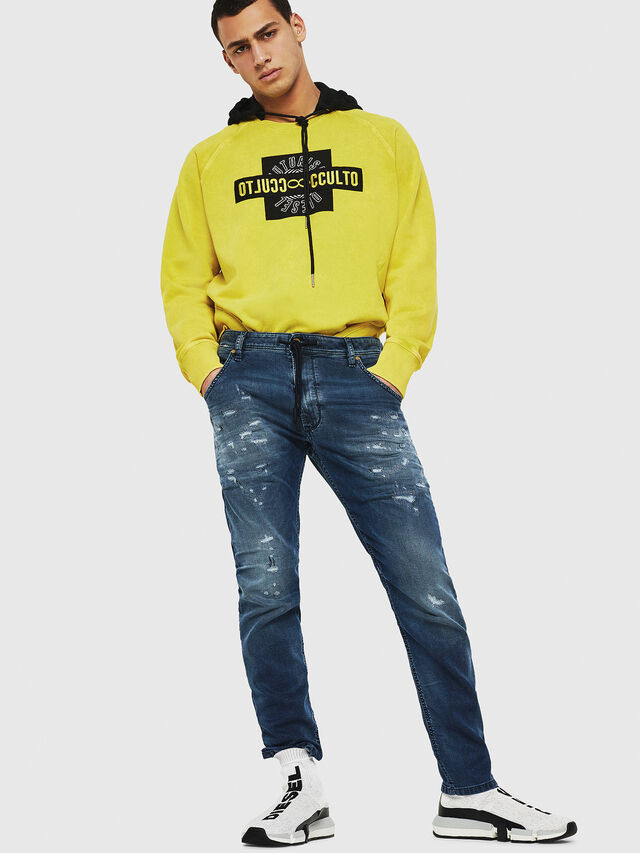 Diesel - Krooley JoggJeans 069HA, Blu medio - Jeans - Image 5