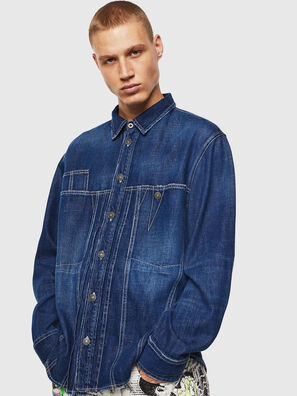 D-FLOX, Blu medio - Camicie in Denim