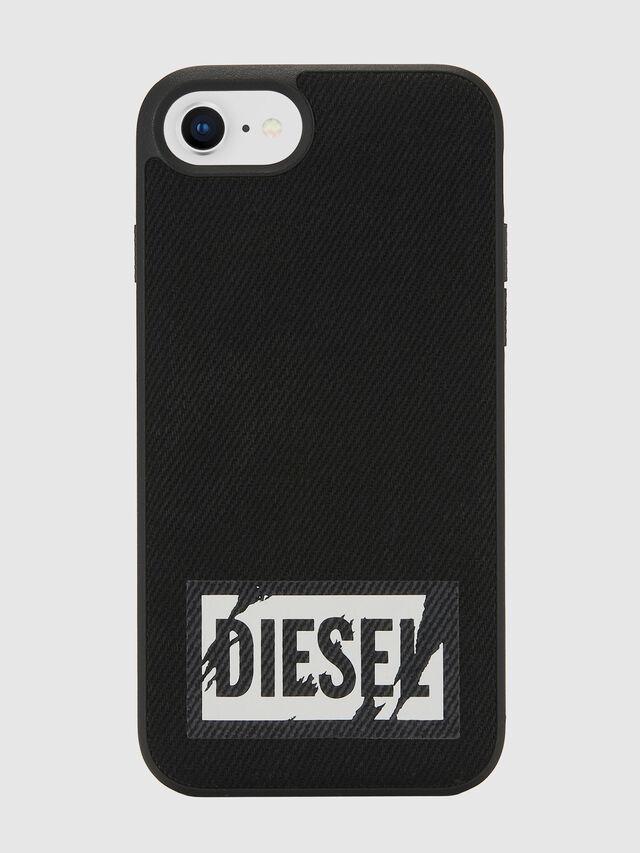 Diesel - BLACK DENIM IPHONE 8/7/6S/6 CASE, Nero - Cover - Image 2