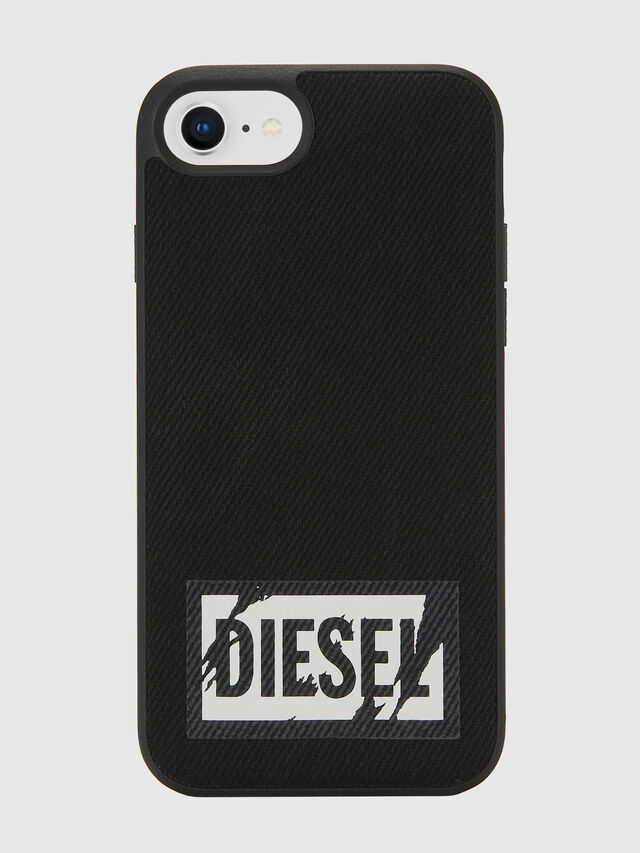 Diesel - BLACK DENIM IPHONE 8/7/6S/6 CASE, Nero - Cover - Image 2