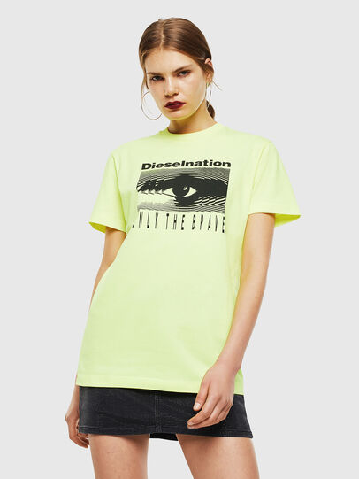Diesel - T-DIEGO-J4, Giallo Fluo - T-Shirts - Image 2