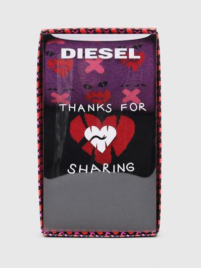 Diesel - SKM-HERMINE-THREEPAC, Nero/Viola - Calzini - Image 2