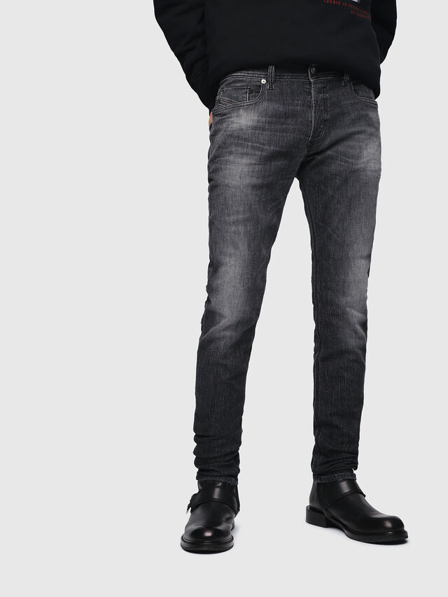 Diesel - Sleenker 089AA, Nero/Grigio scuro - Jeans - Image 1