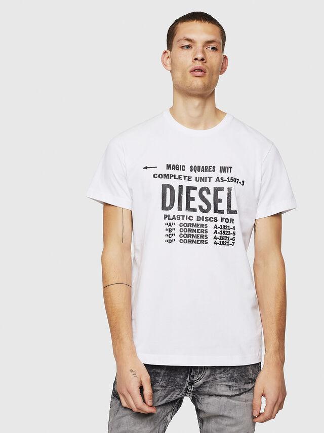 Diesel - T-DIEGO-B6, Bianco - T-Shirts - Image 1