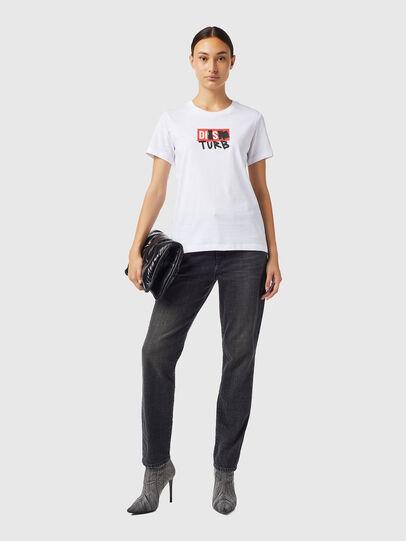 Diesel - T-SILY-B6, Bianco - T-Shirts - Image 4