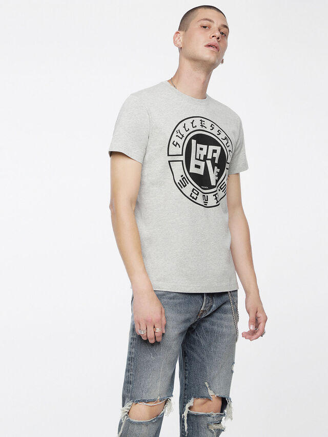 Diesel - T-DIEGO-XC, Melange Chiaro - T-Shirts - Image 1