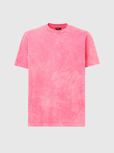 T-shirt con lavorazione acid wash