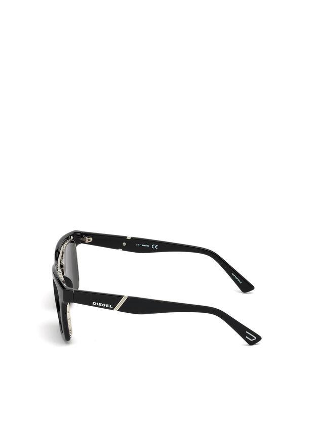 Diesel - DL0250, Nero Brillante - Occhiali da sole - Image 2
