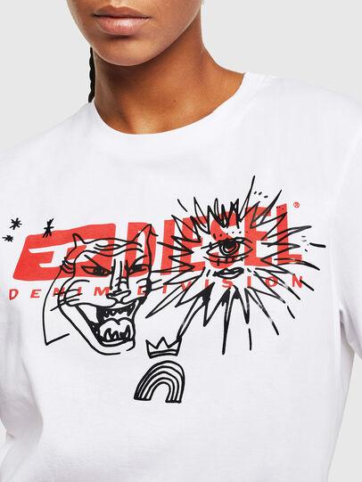 Diesel - T-DARIA-YC, Bianco - T-Shirts - Image 3
