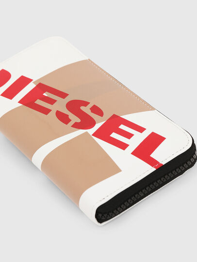 Diesel - 24 ZIP, Bianco/Rosso - Portafogli Con Zip - Image 5