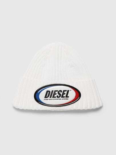 Diesel - K-DENNY, Bianco - Cappelli invernali - Image 1