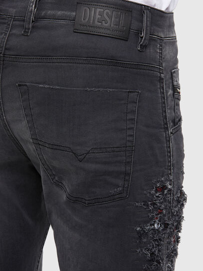 Diesel - Krooley JoggJeans 069RA, Nero/Grigio scuro - Jeans - Image 5