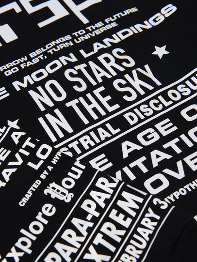 Diesel - TJUSTLSBX1 OVER, Nero - T-shirts e Tops - Image 3