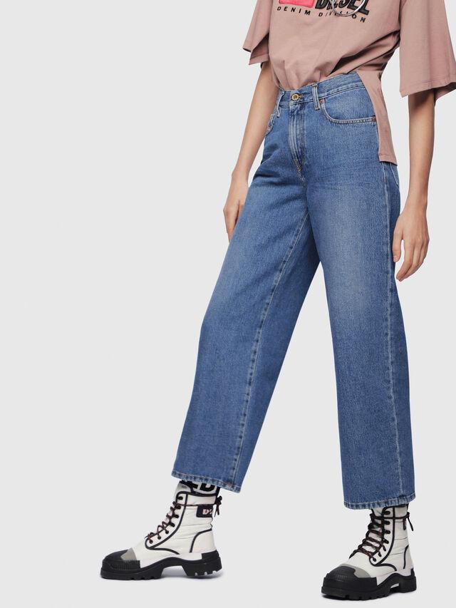 Diesel - Widee 080AN, Blu medio - Jeans - Image 1