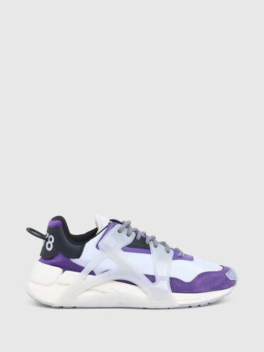 """Sneaker a effetto """"stratificato"""" in nylon e pelle"""