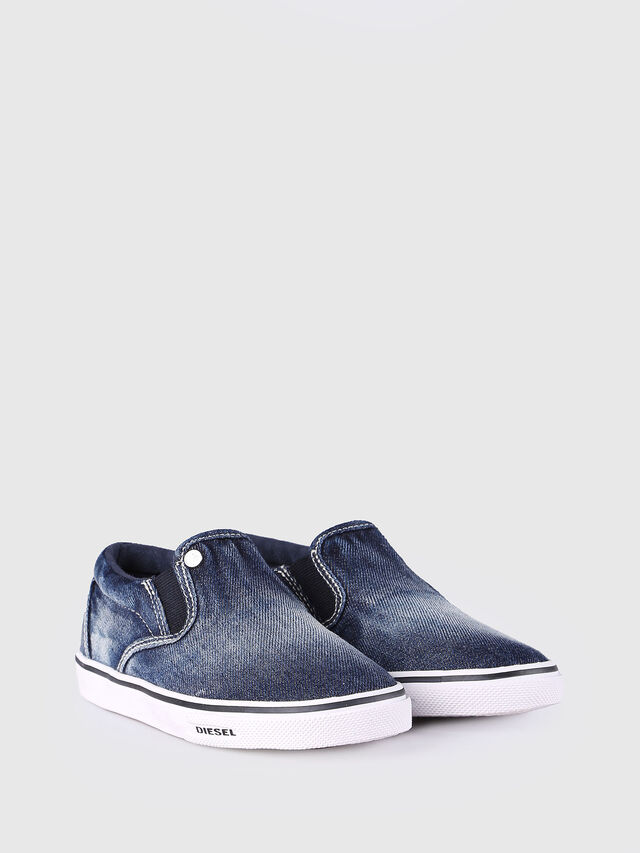 Diesel - SLIP ON 21 DENIM CH, Blu Jeans - Scarpe - Image 2