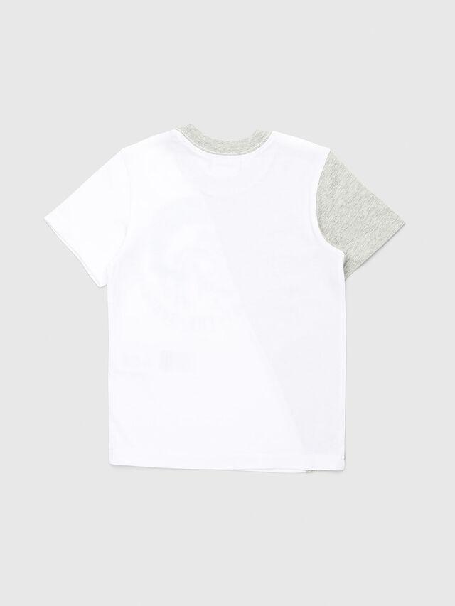 Diesel - TICAB-R, Bianco/Grigio - T-shirts e Tops - Image 2
