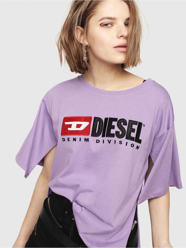 Diesel - T-JACKY-D, Lilla - T-Shirts - Image 1